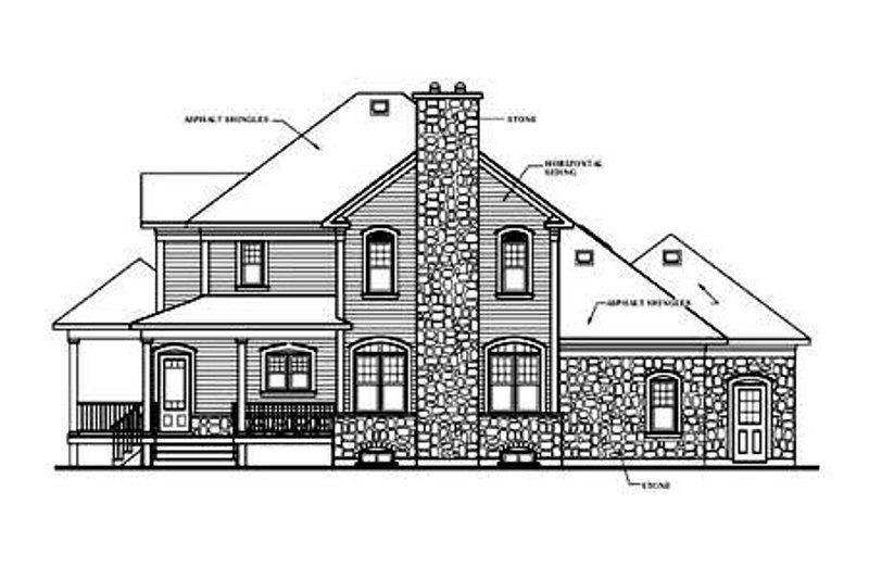 Country Exterior - Rear Elevation Plan #23-282 - Houseplans.com