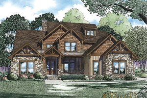 Craftsman Exterior - Front Elevation Plan #17-2442