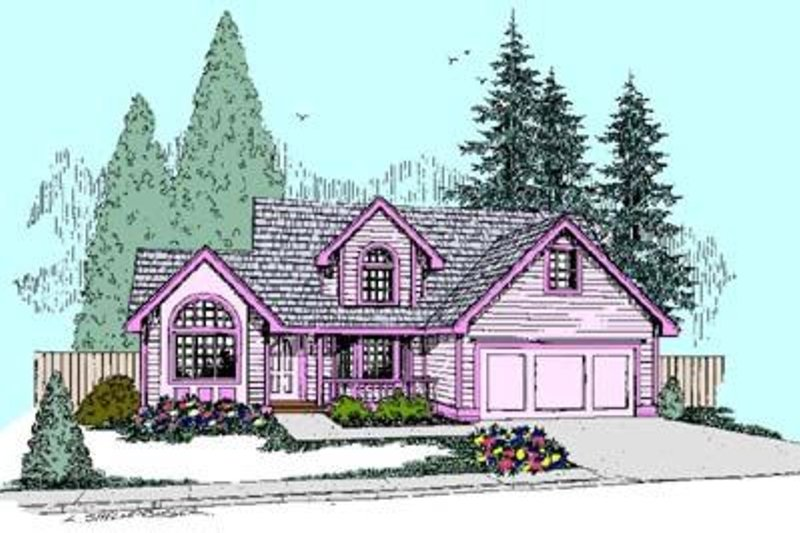 Traditional Exterior - Front Elevation Plan #60-424 - Houseplans.com