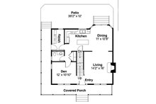 Traditional Floor Plan - Main Floor Plan Plan #124-852