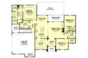 European Style House Plan - 3 Beds 2 Baths 2091 Sq/Ft Plan #430-94 Floor Plan - Main Floor Plan
