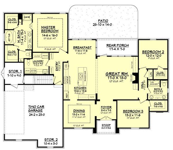 Architectural House Design - European Floor Plan - Main Floor Plan #430-94
