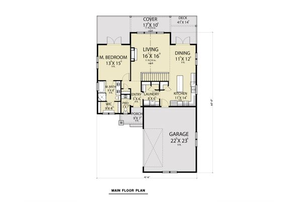 House Plan Design - Craftsman Floor Plan - Main Floor Plan #1070-124