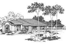 Home Plan - Mediterranean Exterior - Front Elevation Plan #124-326