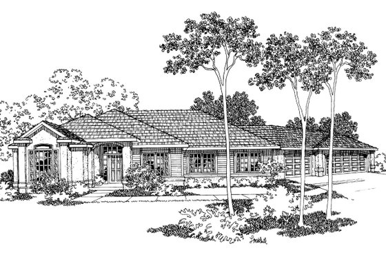 Mediterranean Exterior - Front Elevation Plan #124-326