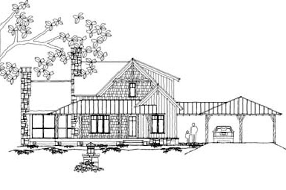 Country Exterior - Front Elevation Plan #71-127