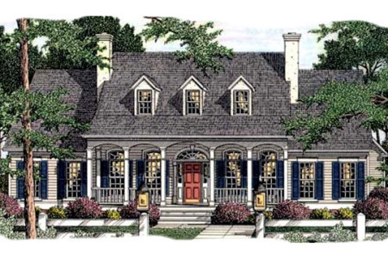 Southern Exterior - Front Elevation Plan #406-298