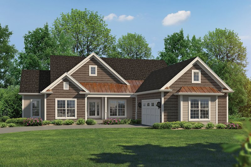 Ranch Exterior - Front Elevation Plan #57-662