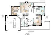 Country Style House Plan - 3 Beds 2.5 Baths 2292 Sq/Ft Plan #23-282 Floor Plan - Main Floor Plan