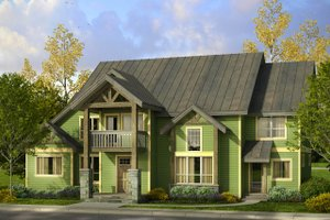 Craftsman Exterior - Front Elevation Plan #124-1000