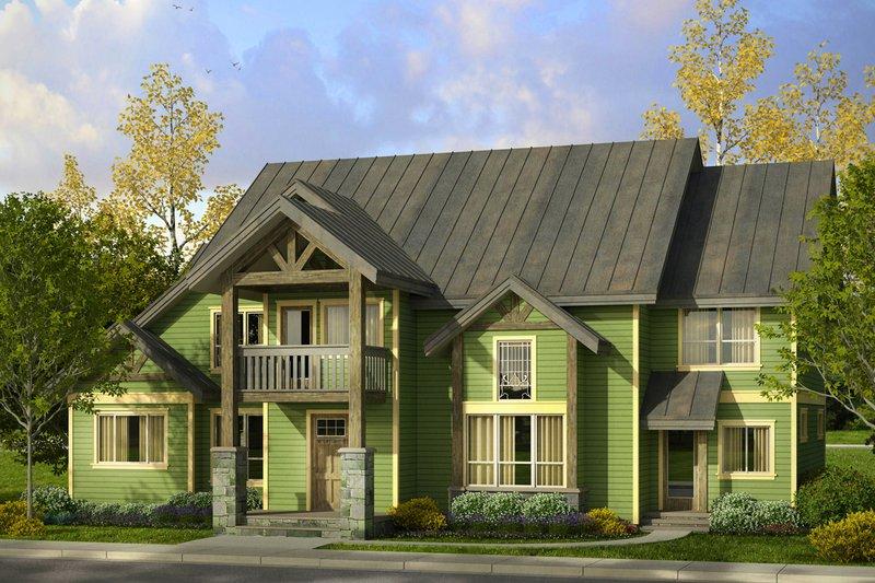 Dream House Plan - Craftsman Exterior - Front Elevation Plan #124-1000