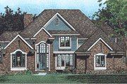 Traditional Style House Plan - 4 Beds 3.5 Baths 3333 Sq/Ft Plan #20-1115 Exterior - Front Elevation