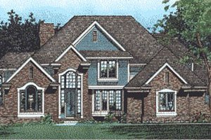 Traditional Exterior - Front Elevation Plan #20-1115