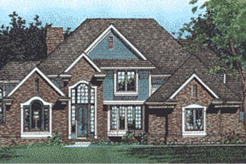 Traditional Style House Plan - 4 Beds 3.5 Baths 3333 Sq/Ft Plan #20-1115