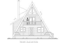 Architectural House Design - Contemporary Exterior - Rear Elevation Plan #117-914