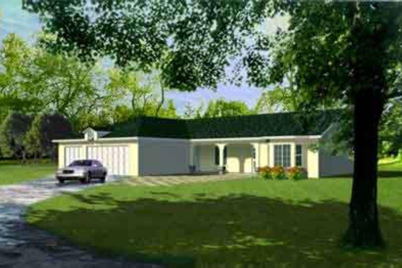 Mediterranean Style House Plan - 3 Beds 2 Baths 1669 Sq/Ft Plan #1-605