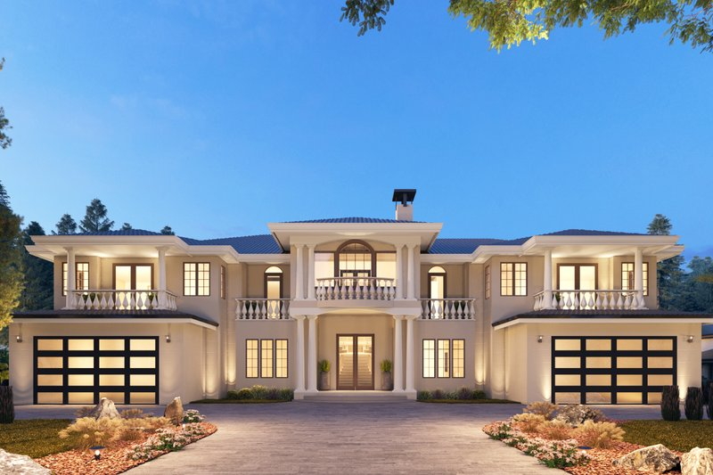 Mediterranean Style House Plan - 10 Beds 9.5 Baths 9358 Sq/Ft Plan #1066-124 Exterior - Front Elevation