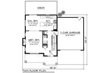 Modern Floor Plan - Main Floor Plan Plan #70-1413