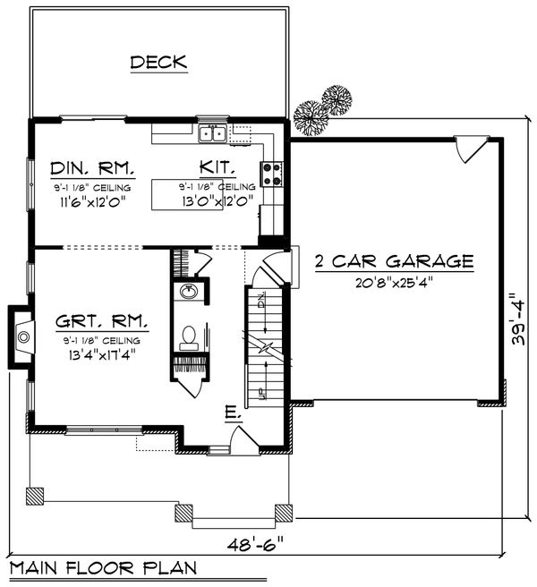 Modern Floor Plan - Main Floor Plan Plan #70-1413