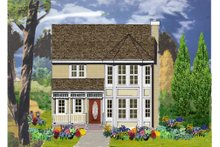 Country Exterior - Front Elevation Plan #3-307