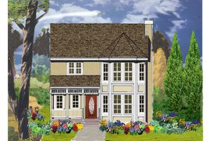 Home Plan - Country Exterior - Front Elevation Plan #3-307