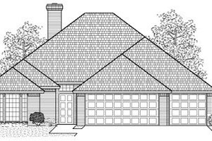 Traditional Exterior - Front Elevation Plan #65-257