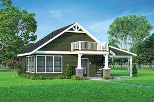 House Blueprint - Cottage Exterior - Front Elevation Plan #124-1221