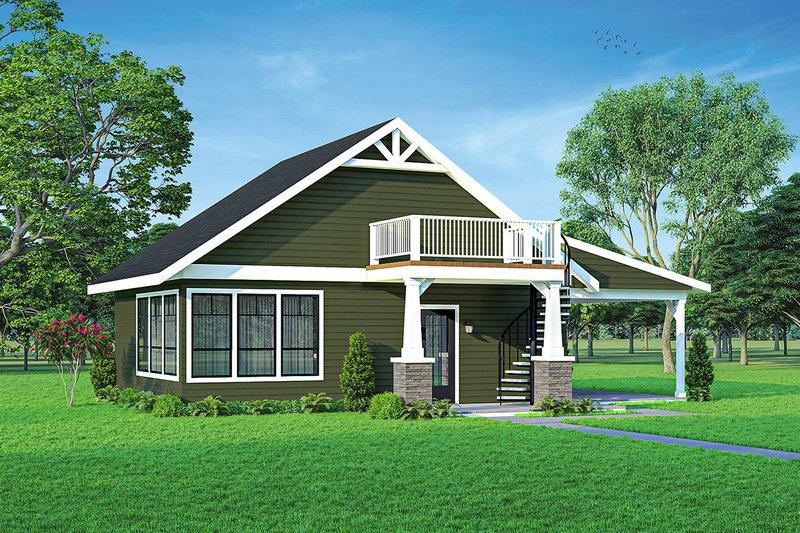 House Plan Design - Cottage Exterior - Front Elevation Plan #124-1221