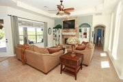 Mediterranean Style House Plan - 3 Beds 3 Baths 2238 Sq/Ft Plan #80-151 Interior - Family Room