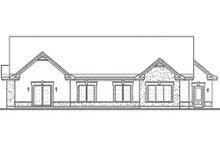 Dream House Plan - Mediterranean style rear elevation