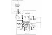 Southern Floor Plan - Upper Floor Plan Plan #137-169