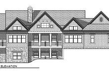 House Plan Design - Traditional Exterior - Rear Elevation Plan #70-854