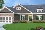 Traditional Style House Plan - 3 Beds 2 Baths 1856 Sq/Ft Plan #419-128 Exterior - Front Elevation