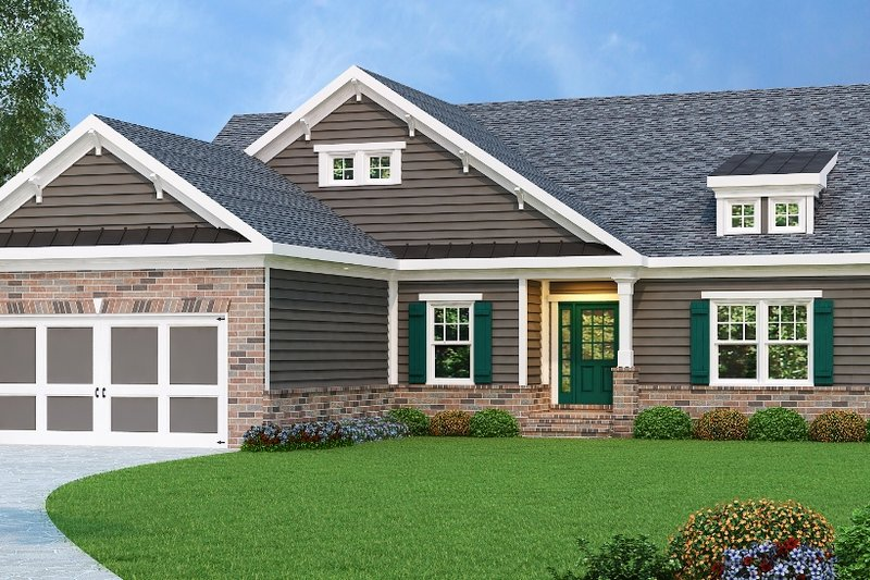 Traditional Exterior - Front Elevation Plan #419-128