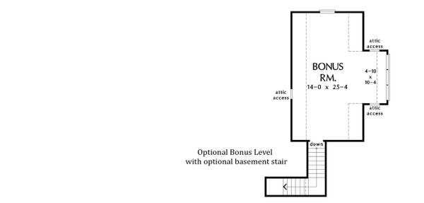 Optional Bonus Level w/ Basement Stair