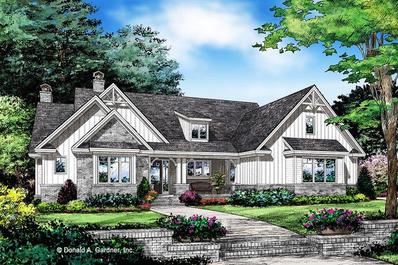 House Plan Design - Farmhouse Exterior - Front Elevation Plan #929-1077