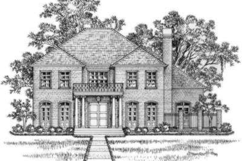 European Exterior - Front Elevation Plan #325-236