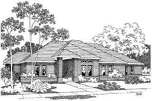 Dream House Plan - Modern Exterior - Front Elevation Plan #124-215