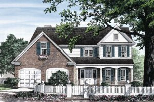 Traditional Exterior - Front Elevation Plan #137-214