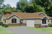 Traditional Style House Plan - 3 Beds 2 Baths 1286 Sq/Ft Plan #116-201