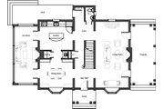 Colonial Style House Plan - 3 Beds 2.5 Baths 2358 Sq/Ft Plan #492-2 Floor Plan - Main Floor Plan