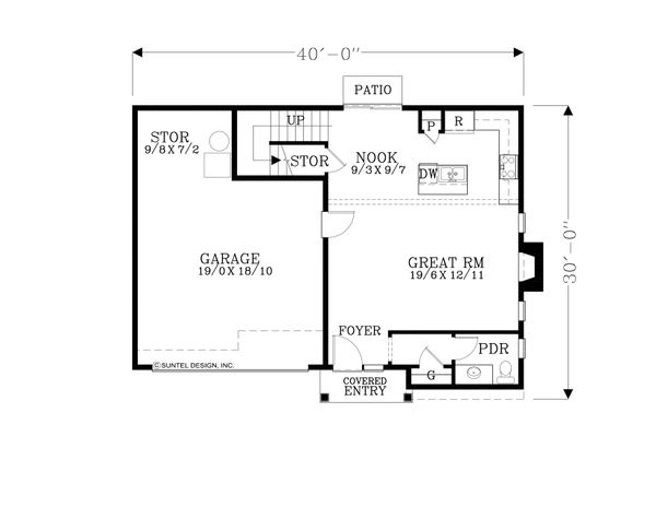 Craftsman Floor Plan - Main Floor Plan Plan #53-604