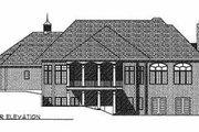 European Style House Plan - 2 Beds 1.5 Baths 3012 Sq/Ft Plan #70-472 Exterior - Rear Elevation