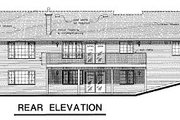 Ranch Style House Plan - 4 Beds 2 Baths 1697 Sq/Ft Plan #18-154 Exterior - Rear Elevation