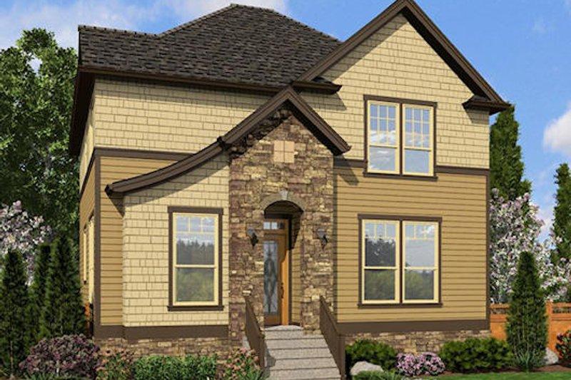 European Exterior - Front Elevation Plan #48-492 - Houseplans.com