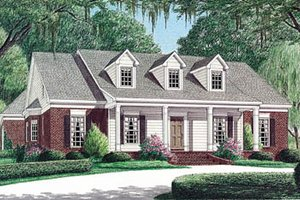 Southern Exterior - Front Elevation Plan #34-126