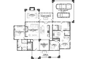 Country Style House Plan - 5 Beds 4 Baths 4692 Sq/Ft Plan #63-417 Floor Plan - Main Floor Plan