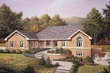 Home Plan Design - Traditional Exterior - Front Elevation Plan #57-293