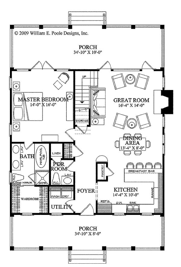 Country Floor Plan - Main Floor Plan Plan #137-262