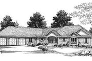 Traditional Style House Plan - 3 Beds 2.5 Baths 4481 Sq/Ft Plan #70-550 Exterior - Front Elevation
